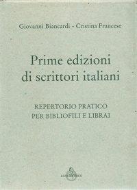 Prime edizioni di scrittori italiani